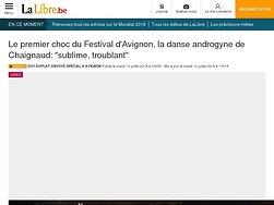 """Le premier choc du Festival d'Avignon, la danse androgyne de Chaignaud : """"sublime, troublant"""""""