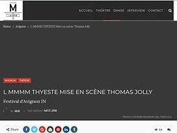 """""""Thyeste"""", un attentat contre l'humanité"""