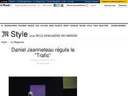 """Daniel Jeanneteau régule le """"Trafic"""""""