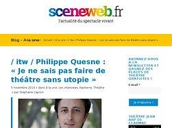 Philippe Quesne : « Je ne sais pas faire de théâtre sans utopie »