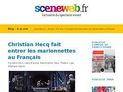 Christian Hecq fait entrer les marionnettes au Français