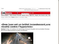 «Dom Juan est un brûlot incandescent,une révolte contre l'hypocrisie»