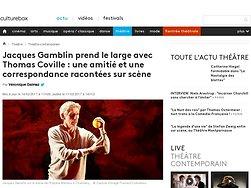 Jacques Gamblin prend le large avec Thomas Coville : une amitié et une correspondance racontées sur scène