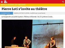 Pierre Loti s'invite au théâtre