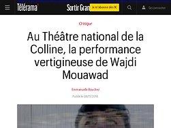 La performance vertigineuse de Wajdi Mouawad