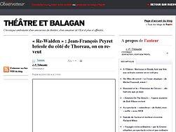 Jean-François Peyret bricole du côté de Thoreau, on en re-veut