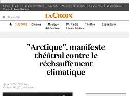 """""""Arctique"""", manifeste théâtral contre le réchauffement climatique"""