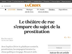 Le théâtre de rue s'empare du sujet de la prostitution