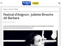 Juliette Binoche dit Barbara