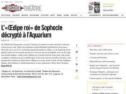 L'«Œdipe roi» de Sophocle décrypté à l'Aquarium