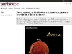 Avec Aeterna, le Théâtre du Mouvement explore la filiation et le cycle de la vie
