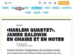 «Harlem Quartett», James Baldwin enchaire et en notes