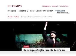 Dominique Ziegler raconte Lénine en mode accéléré