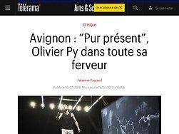 """""""Pur présent"""", Olivier Py dans toute sa ferveur"""