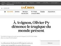 Olivier Py dénonce le tragique du monde présent