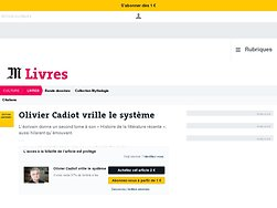 Olivier Cadiot vrille le système