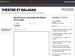David Lescot, un homme de théâtre très occupé