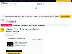 Georges Perec, de la page au plateau: mode d'emploi