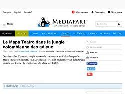 Le Mapa Teatro dans la jungle colombienne des adieux