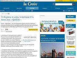 À Avignon, le corps, la mémoire et la danse avec «Qaddish» | La-Croix.com