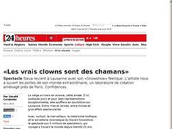 «Les vrais clowns sont des chamans»