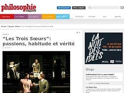 """""""Les Trois Sœurs"""" : passions, habitude et vérité"""
