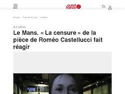 «La censure» de la pièce de Roméo Castellucci fait réagir