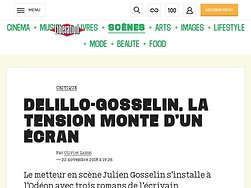 DeLillo-Gosselin, la tension monte d'un écran