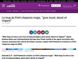 """Le loup du Petit chaperon rouge, """"gros lourd, abruti et ringard"""""""