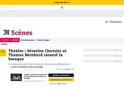 Séverine Chavrier et Thomas Bernhard cassent la baraque