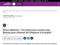 """Simon Abkarian : """"J'ai commencé à écrire sous Sarkozy pour redonner de l'élégance à la langue"""""""