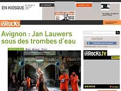 Jan Lauwers sous des trombes d'eau