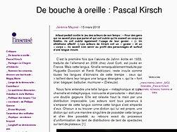 De bouche à oreille : Pascal Kirsch