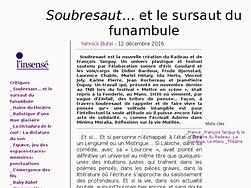 Soubresaut… et le sursaut du funambule