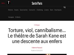 Torture, viol, cannibalisme… Le théâtre de Sarah Kane est une descente aux enfers