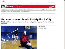Rencontre avec Denis Podalydès à Vidy