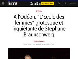 """""""L'Ecole des femmes"""" grotesque et inquiétante de Stéphane Braunschweig"""