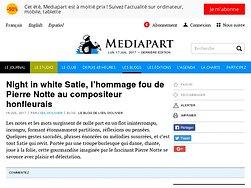 Night in white Satie, l'€™hommage fou de Pierre Notte au compositeur honfleurais