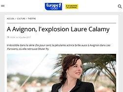 A Avignon, l'explosion Laure Calamy