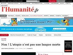 Non ! L'utopie n'est pas une langue morte