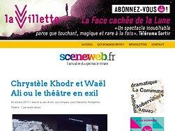 Chrystèle Khodr et Waël Ali ou le théâtre en exil