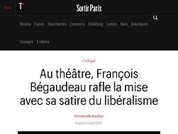 François Bégaudeau rafle la mise avec sa satire du libéralisme