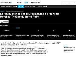 """Artiste """"multitâche"""", homme-orchestre, François Morel est un homme de théâtre"""