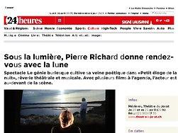 Sous la lumière, Pierre Richard donne rendez-vous avec la lune