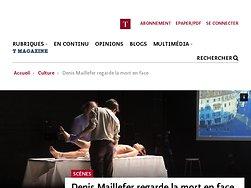 Denis Maillefer regarde la mort en face