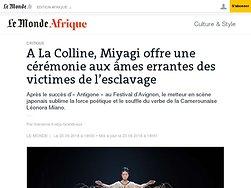 Miyagi offre une cérémonie aux âmes errantes des victimes de l'esclavage