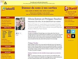 Olivia dutron et Philippe Roullier, heureux à la ville, ils se déchirent sur scène