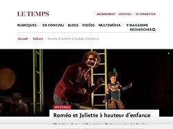 Roméo et Juliette à hauteur d'enfance