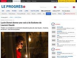 Lucie Donet donne une voix à la Sodome de Laurent Gaudé