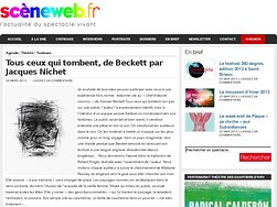 Tous ceux qui tombent, de Beckett par Jacques Nichet